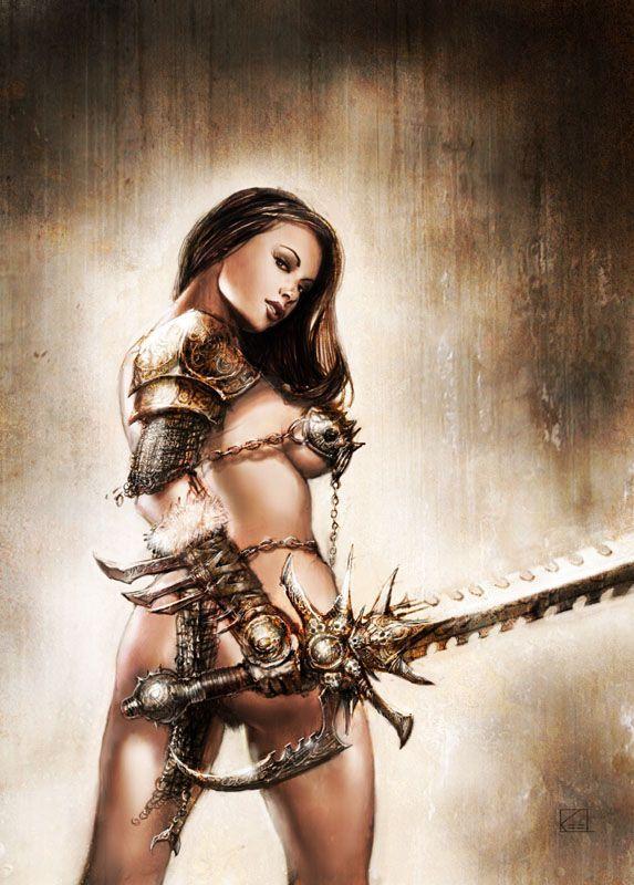 Рисованные девушки воительницы голые116